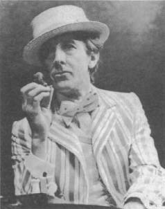 John Wood as Henry Carr in the 1974 Royal Shakespeare Company production of Travesties at the Aldwych Theatre in London.